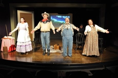 The cast: Ellie Borzellarie, Bill Brown, Micky Goldstein and . Photo by