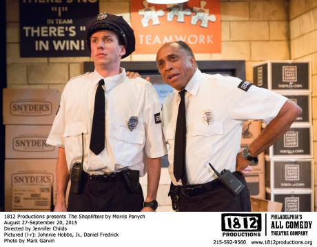 Daniel Frederick (Dom) and Johnnie Hobbs, Jr. (Chief Guard Otto ). Photo by Mark Garvin.