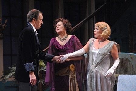 Matt Sullivan (David), Valerie Leonard (Judith), and Beth Hylton (Myra). Photo by Stan Barouh.
