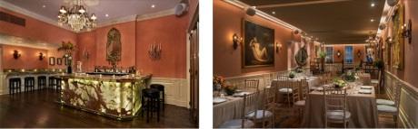 Elizabeth's onyx bar – dining room.