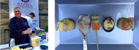 Chef Miguel Garcia of the Peruvian American Chefs Association – Gorgeous nibbles from P.A.C.H.A..