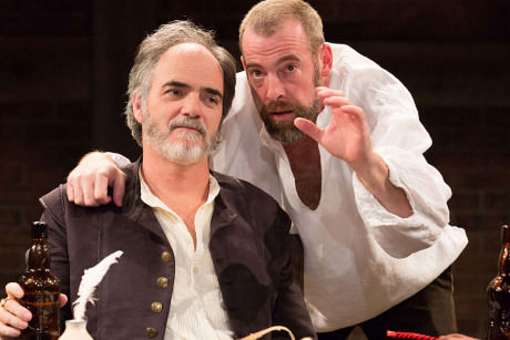 Eric Hissom (Shag) and Ian Merrill Peakes (Richard). quivocation. Photo by Mark Garvin.
