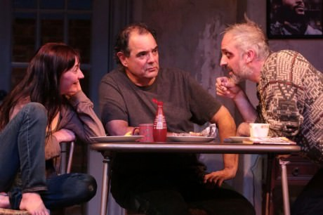 Katie deBuys (Aimee), Edward Gero (Tommy), and Gregory Linington (Doc). Photo by Cheyenne Michaels.