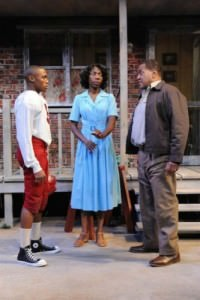 Brayden Simpson (Cory), Joy Jones (Rose), and Alan Bomar Jones (Troy). Photo by Stan Barouh.