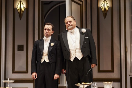 L to R: Rob McClure (Max) and Ron Orbach (Saunders). Photo by Roger Mastroianni.