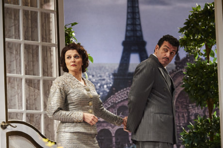 Antoinette LaVecchia (Maria) and Bradley Dean (Tito). Photo by : Roger Mastroianni.