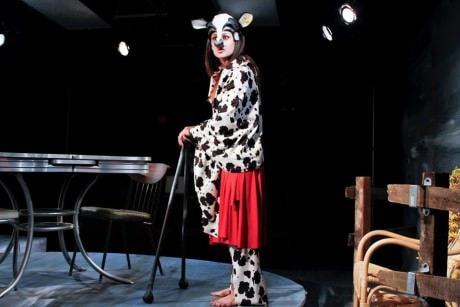 Katie Jeffries (Caroline the Cow). Photo by Curtis Jordan,