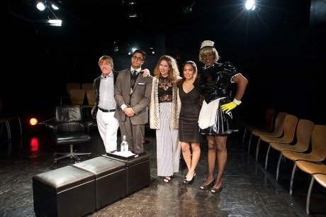 The Cast of 'Smartphones': Moriah Elizabeth Whiteman, Bruce Alan Rauscher, Tekle Ghebremeschel, and Shravan Amin. Photo by