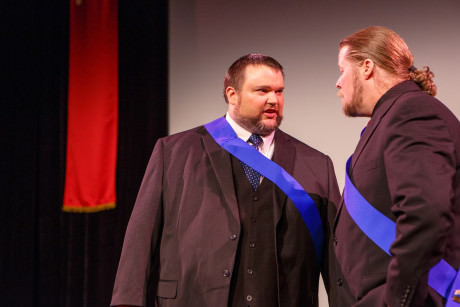 Jay Tilley (Brutus) and Leland Shook (Cassius). Photo by David Harback of Harback Photography.