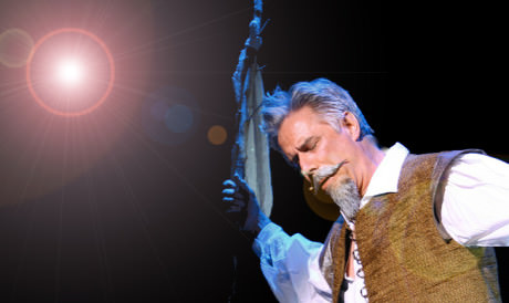 Jeff McCarthy as Don Quixote. Photo courtesy of Barrington Stage Company.