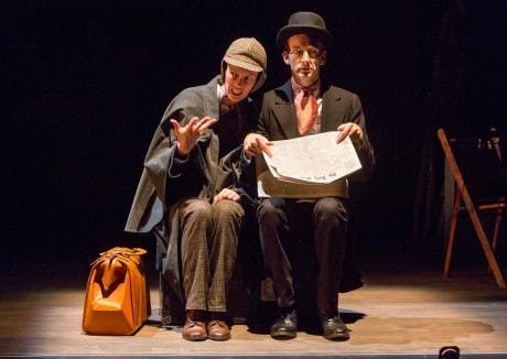 Loren O'Dair (Sherlock Holmes) and Peter Groom (Dr. Watson). Photo courtesy of Aquila Theatre.
