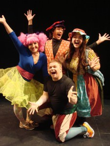 Cast members of 'Godspell.' Photo courtesy of Montgomery College.