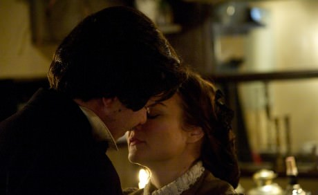Brian Keith MacDonald (Edgar Allan Poe) and Renata Plecha (Eliza). Photo courtesy of Annapolis Shakespeare Company.