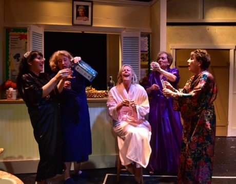 The cast of 'Calendar Girls.' Photo by Chip Gertzog.