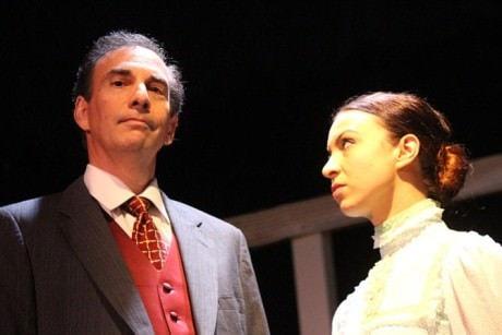 Captain Keller (Rich Amada) and Kate Keller (Emily Golden). Photo courtesy of Aldersgate Church Community Theater.