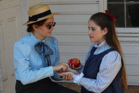 Annie Sullivan (Meghan Landon) and Helen Keller (Lucy Robert). Photo courtesy of Aldergate Church Community Theater.