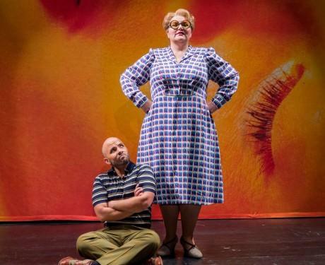 Public Opinion (Margaret Gawrysiak) and Orpheus (Javier Abreu). Photo courtesy of Virginia Opera.