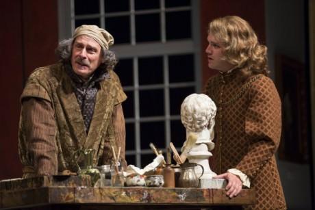 Mitchell Hebert as Rembrandt and Josh Sticklin as his son Titus. Photo by Scott Suchman.