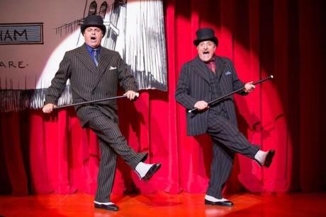 Raymond Jaramillo McLeod (Second Man) and Bob Ari (First Man) sing 'Brush Up Your Shakespeare.' Phoot by Scott Suchman.
