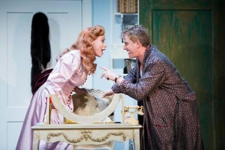 Douglas Sills (Fred Graham) and Christine Sherrill (Lilli Vanessi). Photo by Scott Suchman.