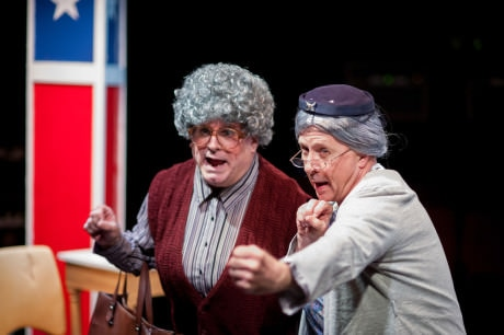 Dixie (Glen Charlow) and Pearl (Jim Hart) . Photo bySpotlighters Theatre/Chris Aldridge, CMAldridgePhotography.