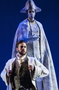 Anthony Eversole and Ethan Lee Greene. Don Giovanni at the crypt of the Commendatore. Photo by Teresa Castracane.