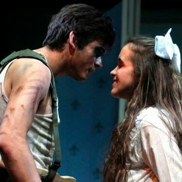 Ben Peter (Peter Pan) and McCullum (Wendy Darling). Photo courtesy of George Mason University.