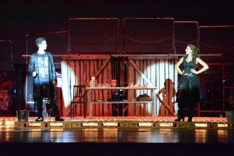 Calum Alden (Sweeney Todd) and Kaycie Goral (Mrs. Lovett). Photo by Christopher Gerken.