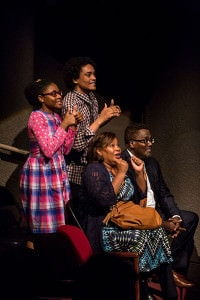 Zaria Graham, Nathan Barlow, Aimee K. Bryant, and James A. Williams. Photo by Dan Norman.