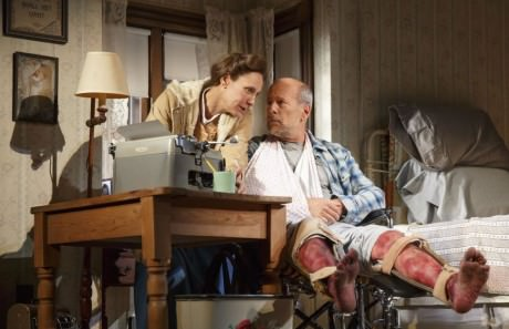 Laurie Metcalf and Bruce Willis. Photo by Joan Marcus.