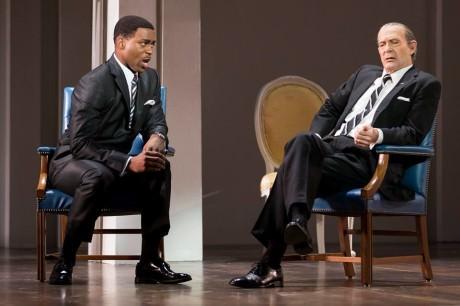 Soloman Howard (Martin Luther King Jr.) and Tom Fox (Lyndon B. Johnson). Photo by Scott Suchman.