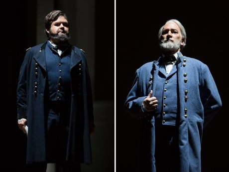 Richard Paul Fink (Ulysses S Grant) and David Pittsinger (Robert E. Lee). Photo by Scott Suchman.