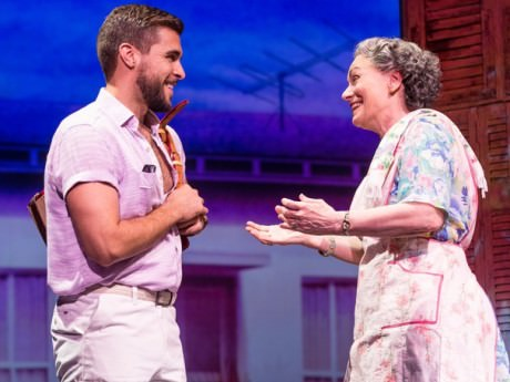 Josh Segarra (Emilio) and Alma Cuervo (Consuelo). Photo by Matthew Murphy.