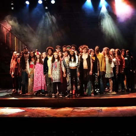 The cast of 'Hair.' Photo by Jill Roos.