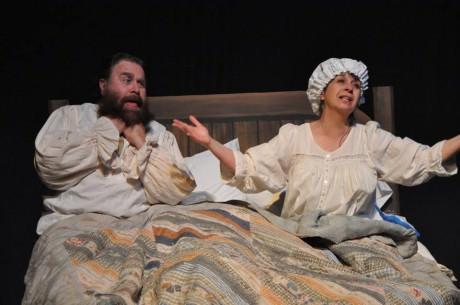 Brian Lyons-Burke Tevye) and Angela Lorenzo-thompson (Golde). Photo by Elli Swink.