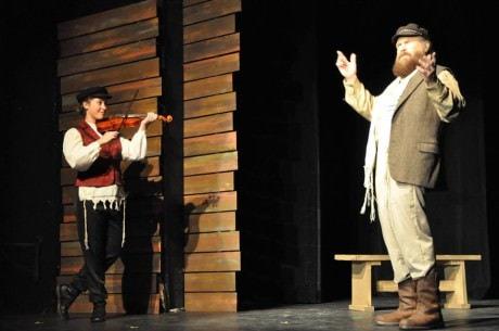 Bella Zindash (Fiddler) and Brian Lyons-Burke (Tevye). Photo by Elli Swink.