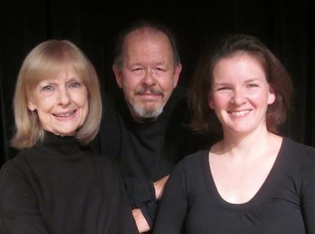 "Left to Right: Jane Squier Bruns (Fanny Sedgwick Church), David Jones (Gardner Church), and Shanna Ridenour (Margaret ""Mags"" Church). Photo by David Jones."