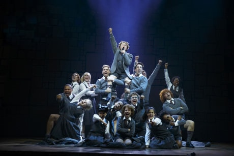 """""""Revolting Children"""" – Evan Gray (Bruce) and The Company of 'Matilda The Musical' National Tour. Photo by Joan Marcus."""