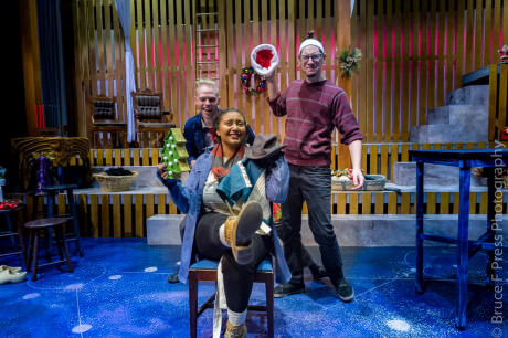 Sierra Young, Noah Bird, Daniel Johnston. Photo by Bruce F. Press Photography