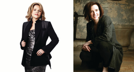 L to R: Renee Fleming and Patricia Barber. , Photo from The Harris Theater in Chicago. rwww.harristheaterchicago.org.