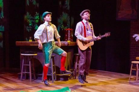 Oillin the Leprechaun (Josh Sticklin) and Wanna-Be Leprechaun-Catcher Riley O'Really (Bradley Foster Smith). Photo by Mike Kozemchak.