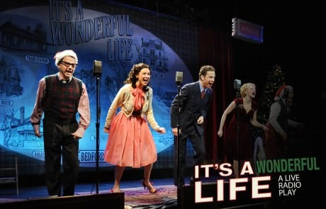 The cast of 'It's A Wonderful Life: A Live Radio Play.' Photo by Mandee Kuenzle.