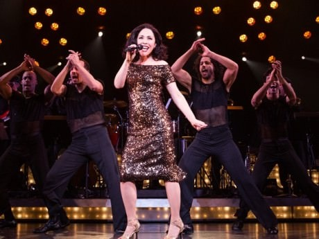 Andréa Burns and the cast of 'On Your Feet.' Photo by Matthew Murphy.