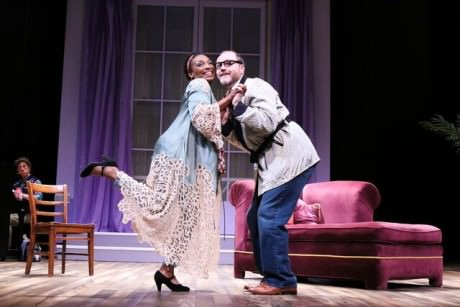 Dawn Ursula (She) and Todd Scofield (The Husband/Harrison). Photo courtesy of Round House Theatre. Photo by Cheyenne Michaels.