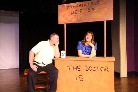 Charlie Brown (John Reece) and Lucy (Tracy Husted). Photo by Scott D'Vileskis and Brian Boyd.