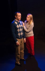 Michael (John Tweel) and Carla (Fiona Blackshaw) argue. Photo by Chelsea Bland.