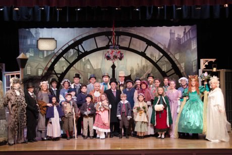 The cast of LTA's 'A Christmas Carol.' Photo by Doug Olmsted.
