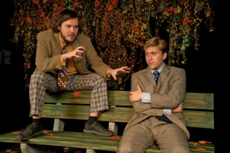 L to R: Tim Neil (Peter) and Charles Gearhart (Jerry) in 'The Zoo Story.' Photo by freyphotographic.com.