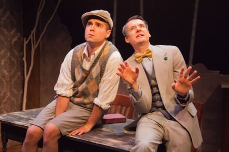(l-r) Séamus Miller as Buddy and Christopher Henley as Truman in Holiday Memories from WSC Avant Bard. Photo by DJ Corey.