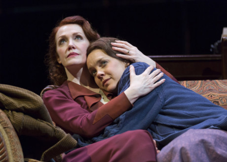 """Madeleine Potter plays Amanda Wingfield and Jenna Sokoliwski plays her daughter Laura in """"The Glass Menagerie"""" at Ford's Theatre. Photo by Scott Suchman."""